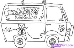 How to draw the Mystery Machine from dragoart
