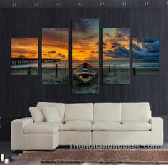 Cheap printing cardboard, Buy Quality printed circuit board price directly from China prints of famous paintings Suppliers: Unframed 5 Pcs Large HD Seaview With ShipTop-rated Canvas Print Painting for Living Room Wall Art Picture Gift Decoration Home Living Room Pictures, Wall Art Pictures, Canvas Pictures, 5 Piece Canvas Art, Canvas Art Prints, Canvas Wall Art, Framed Canvas, Canvas Paintings, Wall Prints