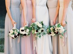 Photography : Kate Ignatowski | Bridesmaids Dresses : Jenny Yoo | Floral Design : Forever In Bloom | Wedding Dress : Sarah Janks Read More on SMP: http://www.stylemepretty.com/2015/11/24/elegant-fall-wedding-in-an-old-textile-factory/