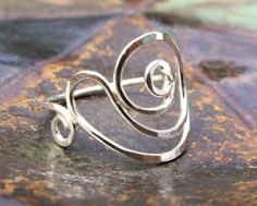 Wire jewelry | silver wire spiral ring | nautilus ring