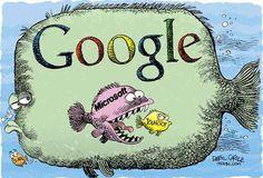 En el mar hay muchos peces, pero no todos son del mismo tamaño. Lo mismo pasa con las empresas de #tecnologia: #Google. #Microsoft y #Yahoo son un ejemplo perfecto.