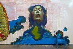 "devidsketchbook: "" CANTAMAÑANAS IX URBAN ART FESTIVAL Graffiti - Street Art by Caktus & Maria Huarte, Spain - ""San Esteban"" Park | 3-10 September 2012 flickr | facebook """