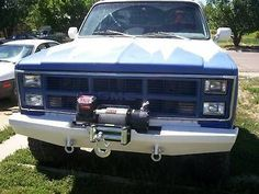 Custom Winch Bumper For Chevy Gmc Trucks 1973 1987 Chevy