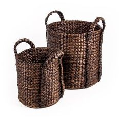 New Rustics Home Water Hyacinth Basket - Set of 2
