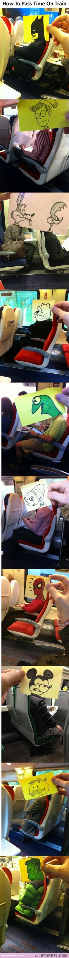 How To Pass Time On The Train To Work…