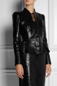 Gucci Python peplum jacket NET-A-PORTER.COM #casacos #coats