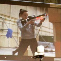 Daisy takes aim.