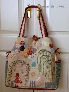 Fabric Purses, Fabric Bags, Patchwork Bags, Quilted Bag, Japanese Bag, Embroidery Bags, Fabric Journals, Craft Bags, Denim Bag