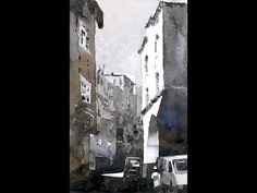 Beginning in Watercolor- Istanbul Streetscape Great tutorial in creating a monochrome watercolour from a photo with techniques to identify values and when to paint them