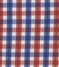 Seersucker fabric-red, white and blue @ JoAnn