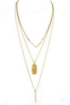 Layer Necklace - Natural