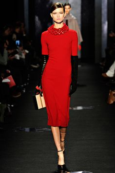 Model: Kasia Struss | Diane Von Furstenberg Fall 2012 RTW (click the photo for giant high-res image)