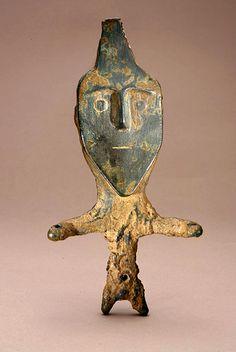 Western Iran, bronze statue, pre-Achaemenid art, 500-1000 BCE.