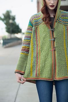 Crochet Clothes Ravelry: Chromatic Hoodie pattern by Annie Modesitt, this is gorgeous! From Interweave Crochet Winter 2014 - Crochet Coat, Crochet Winter, Crochet Jacket, Crochet Cardigan, Crochet Shawl, Crochet Clothes, Crochet Hoodie, Crochet Sweaters, Interweave Crochet