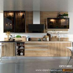 Width Standard Kitchen Cabinet with Wood Grain Melamine Finish Small Kitchen Pantry, Kitchen Pantry Cabinets, Modern Kitchen Cabinets, Home Furniture, Furniture Design, Countertop Materials, Countertops, Wood Grain, Interior