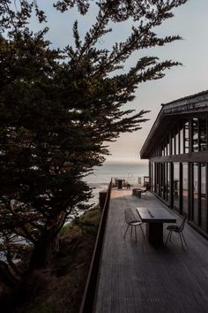 Exterior and Deck of the Fritz House at Esalen Institute in Big Sur, California