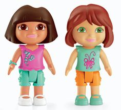 Fisher-Price Dora The Explorer Playtime Together Dora and Me Play Dates : Dora and Red Hair Friend by Fisher-Price - Toys & Games