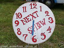 halloween circus props | RARE AUTHENTIC CIRCUS SIDESHOW SHOW TIME CLOCK PROP,FREAK,ODDITY,MAGIC ...