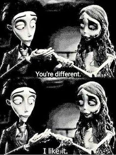 ~mood as explained by tim burton~ Dreamworks, Corpse Bride Quotes, Dark Disney Art, Desenhos Tim Burton, Tim Burton Corpse Bride, 7 Arts, Tim Burton Characters, Tim Burton Art, Film Quotes