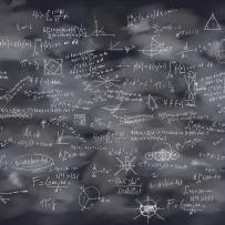 Black Board - The art of learning  wallpaper mural designed by K. Edgren Nyborg