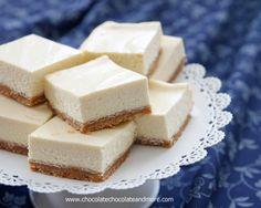Classic Cheesecake Bars-Chocolate, Chocolate and more