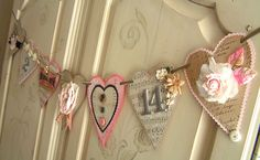 """This photo belongs to & Heart Garland by Andreas Singarella, via Flickr""   Cute garland idea! ""Need"" to make one or two or three ;)"