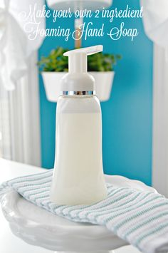 DIY 2 Ingredient Foaming Hand Soap - Make Your Own