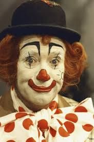 Image result for whiteface clown makeup design