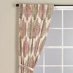 Rust Kashvi Flower Curtain | World Market