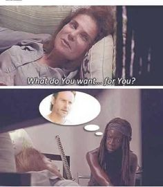Michonne - The Walking Dead - Rick, Michonne wants Rick ❤