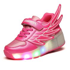 LED Lamp Flashing Sports Casual Shoes With Wing and Rollers //Price: $22.32 & FREE Shipping //     #girlsdresses