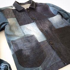 Blue Thimble Denim Patchwork Jacket