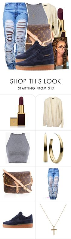 """""""12/4/15"""" by xtaymaxlovesxmisfitx ❤ liked on Polyvore featuring Tom Ford, Topshop, Michael Kors, Louis Vuitton and NIKE"""
