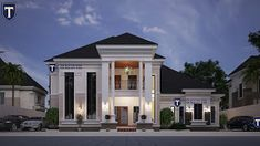 If you love spaciousness and modern living, here is a contemporary 5 bedroom plan that an established family will . Best Modern House Design, Classic House Design, Beautiful House Plans, Dream House Plans, 6 Bedroom House Plans, Grey Bedroom Design, Double Storey House, African House, Bungalow House Design