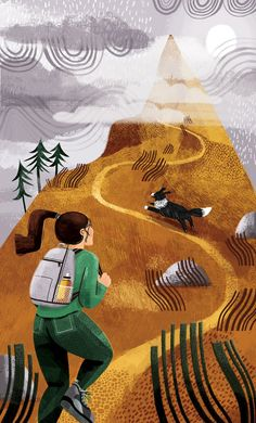 Hillwalking in Scotland. Drawing Sketches, Drawings, Go Hiking, Behance, Painting Patterns, Landscape Art, Illustration Art, Autumn, Graphic Design