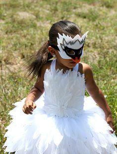 Swan costume/ Swan tutu/ swan tutu dress/ white feather dress/