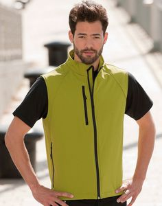 Gilet uomo in softshell da personalizzare con stampe e ricami. Tessuto innovativo per massimo comfort.