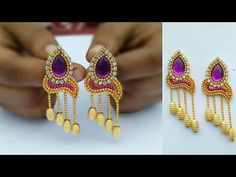 How To Make Designer Silk Thread Jhumkhas//How To Make Silk Thread Earrings/DIY/Home Made Jewelry - YouTube