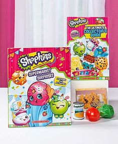 This Set of 2 Shopkins Books is a must-have for every fan! Learn more about your favorite Shopkins from season 1 and 2, including rare and limited editions. The