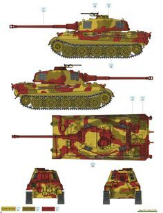 King Tiger Ausf.B Three-Color Camouflage Color Profile and Paint Guide Added