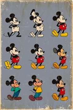 A worn, vintage Mickey Mouse poster