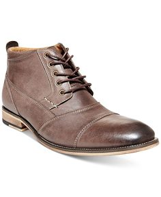 The Jabbar boot by Steve Madden introduces updated style to your fashion-forward look. | Leather upper; manmade sole | Imported | Cap toe | Lace-up closure | Web ID:2950374