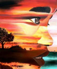 African Sunset....love it!!! i wish i had this talent