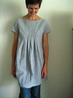 I'm going to make this out of that indigo-dyed khadi cloth from A Verb for Keeping Warm  Stylish Dress book