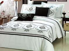 Black and white bedding option