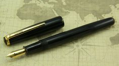 Ebonite Eyedropper Fountain Pen - Ranga Cruiser - Black - Fine Nib