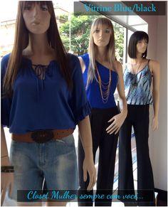 Vitrine Closet Mulher  Top, shorts, macacão, calça, acessórios  www.facebook/closetmulher