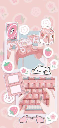 Iphone Wallpaper Kawaii, Pink Wallpaper Anime, Cute Pastel Wallpaper, Soft Wallpaper, Cute Wallpaper For Phone, Anime Scenery Wallpaper, Cute Patterns Wallpaper, Aesthetic Pastel Wallpaper, Cute Wallpaper Backgrounds