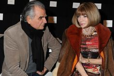 Patrick Demarchelier and Anna Wintour Front Row at Carolina Herrera