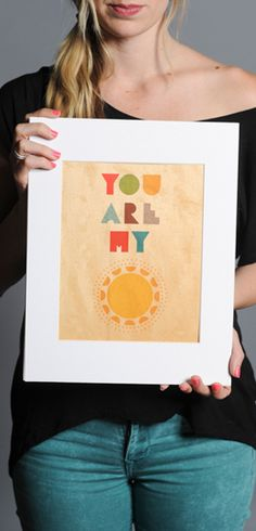 "Buy this Sunshine 11""x14"" Print at http://www.sevenly.org/product/520d0e612bc8454901000012?cid=ShrPinterestProductDetail"
